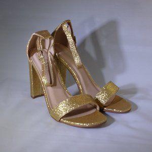 Bella Marie Women's Strappy Block High Heel